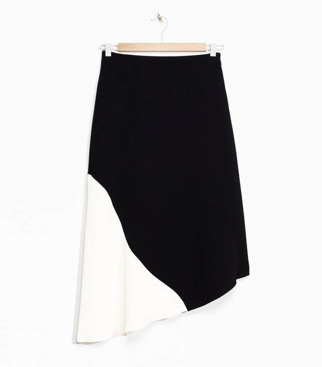 & Other Stories Slanted Hem Skirt