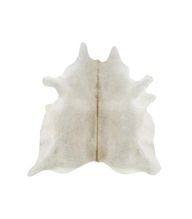 Cowhide Imports Gray Beige Solid Cowhide Rug