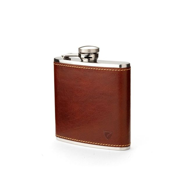 Aspinal of London Classic Leather Hip Flask