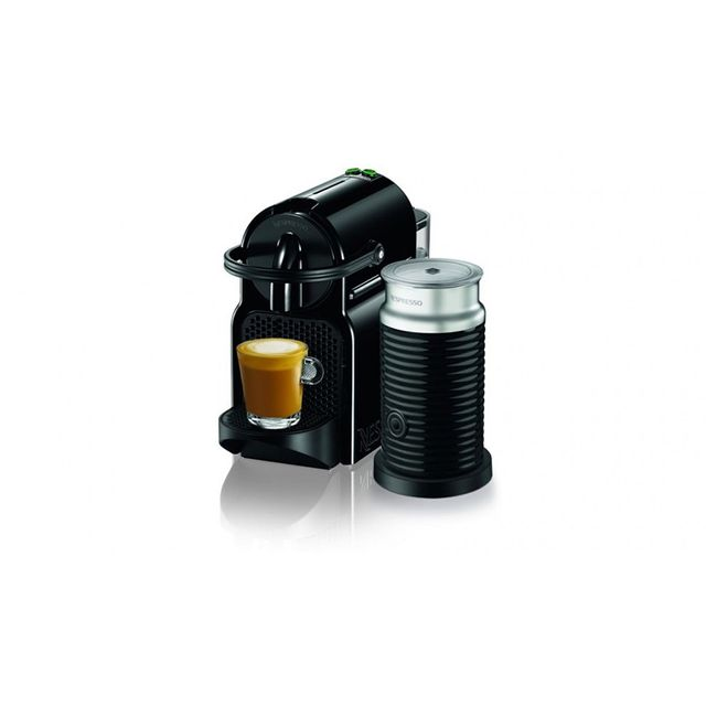 Nespresso Inissia Coffee Machine with Milk Frother - Black