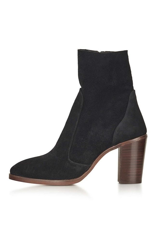 Topshop Magnificent Suede Sock Boots