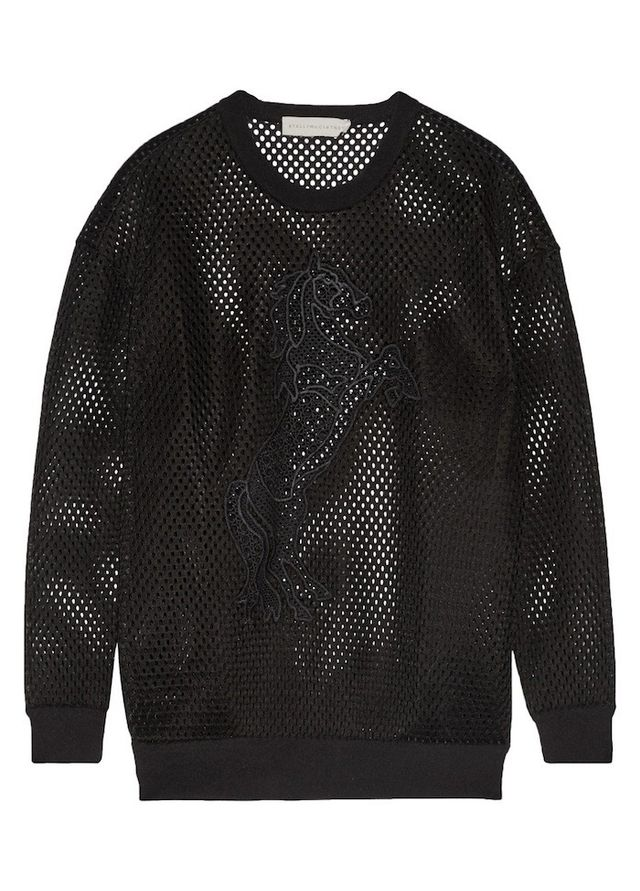 Stella McCartney Embroidered Mesh Sweatshirt