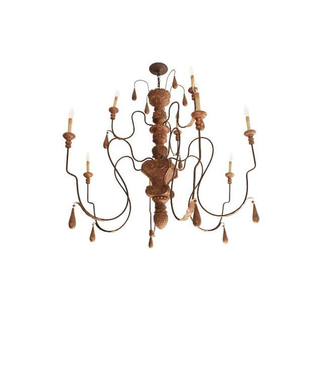Currey & Company Traditional Mansion Large Nine Light Chandelier