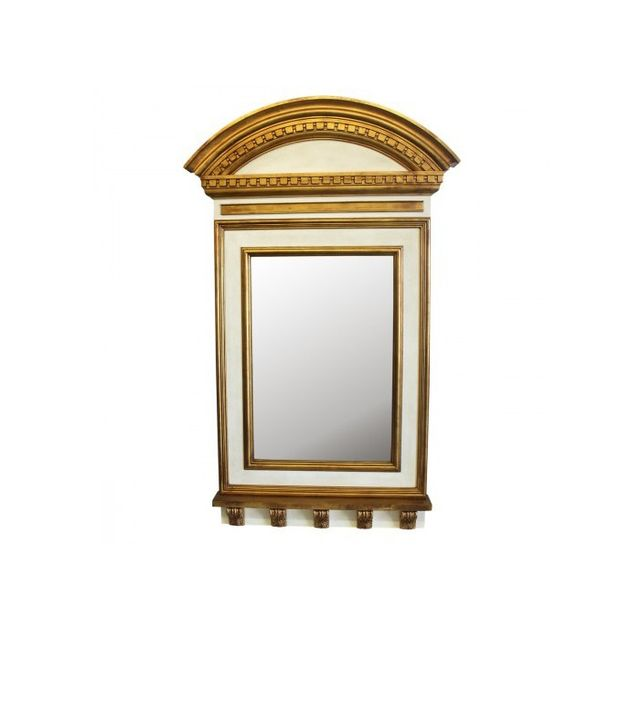 Bunny Williams Home Ivory and Gold Neoclassical Mirror