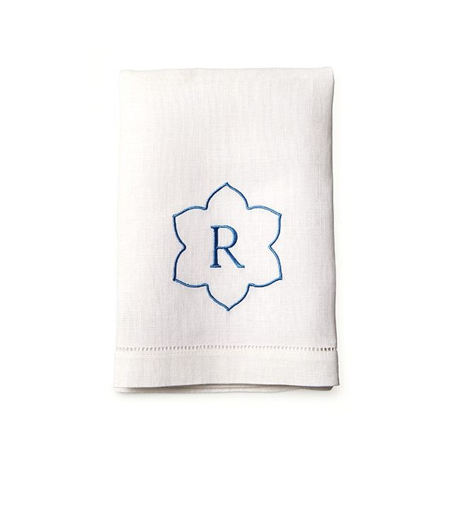 Draper James Single Letter Guest Towel Set