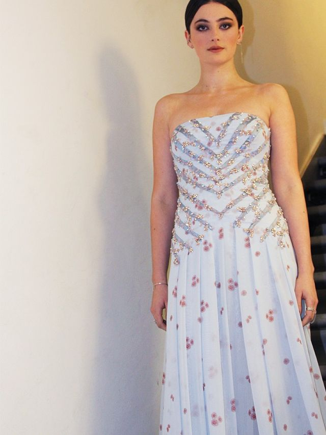 The gorgeous Miu Miu embellishment and pleating in detail. WWW UK: And tell us about your drop-dead-amazing dress, please! MB: I chose the floor length Miu Miu gown as I loved the detail, but what...