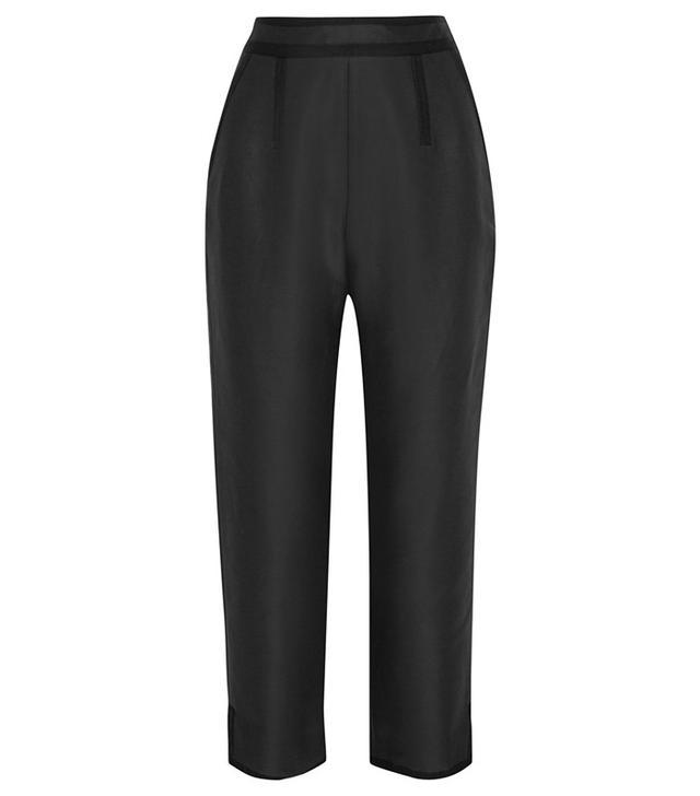 Isa Arfen Cotton and Silk-Blend Faille Straight-Leg Pants