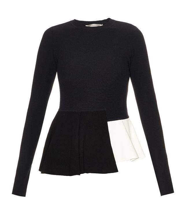 Sportmax Michela Peplum-Hem Knit Sweater