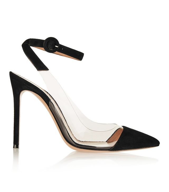 Gianvito Rossi Suede and PVC Pumps