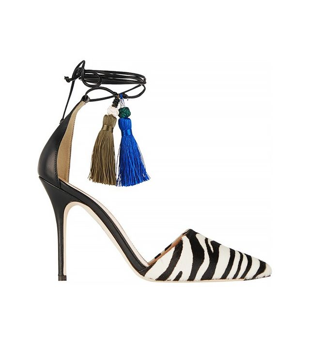 J.Crew Zebra- Print Calf Hair and Leather Pumps