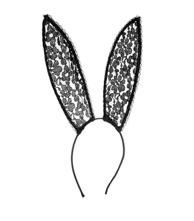 Fleur du Mal Playboy Leavers Lace Bunny Ear Headband