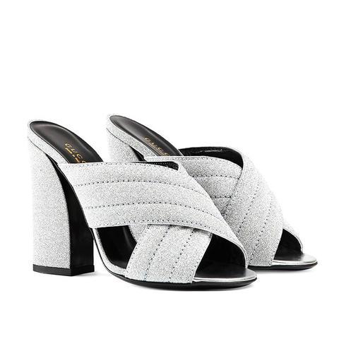 Glitter Crossover Sandals