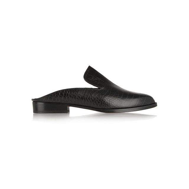 Robert Clergerie Alicek Croc-Effect Slippers