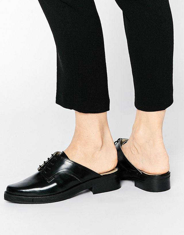 Park Lane Lace Up Chunky Loafer Mule