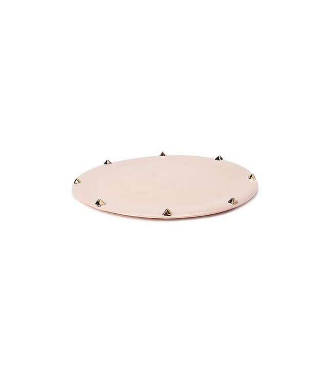 Lux/Eros Pyramid Stud Platter in Blush