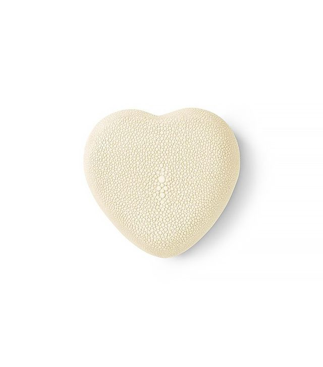 Aerin Cream Shagreen Heart Box