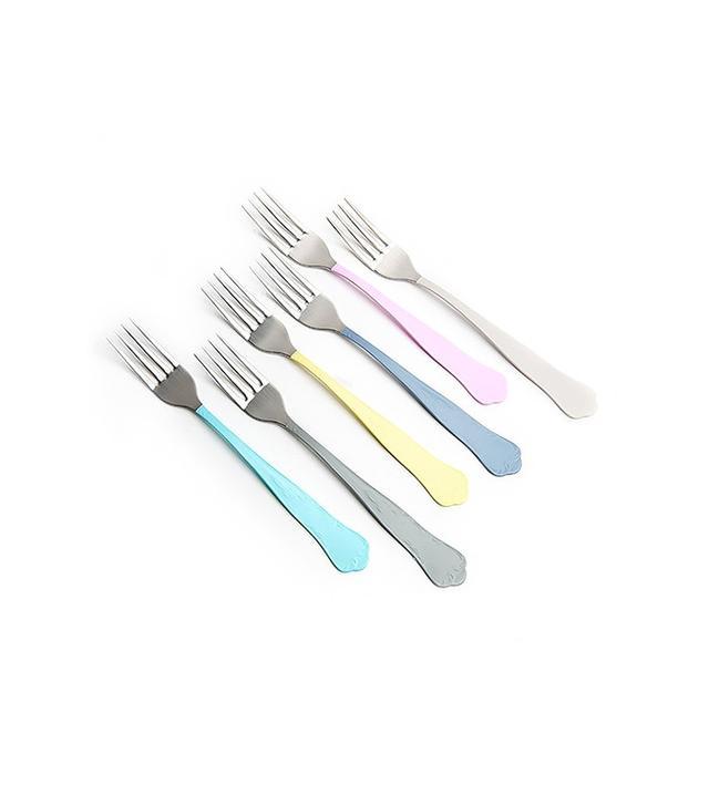 Poketo Color Dipped Dessert Fork Set