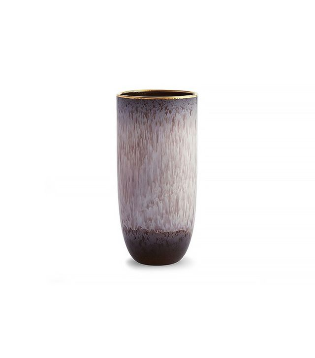 Aerin Maurice 18K Gold-Trim Ceramic Vase