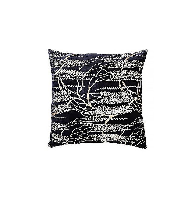 Kevin O'Brien Weeping-Willow-Print Velvet Pillow