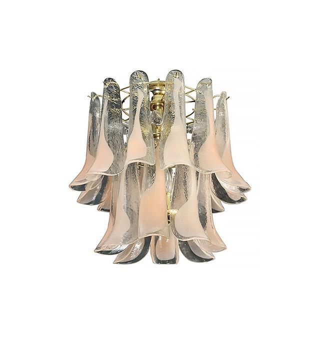 Gino Vistosi Murano Glass Petal Chandelier