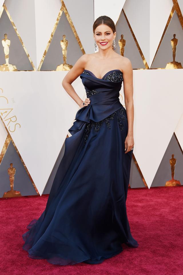 WHO: Sofia Vergara WEAR: Marchesa gown; Lorraine Schwartz jewellery.