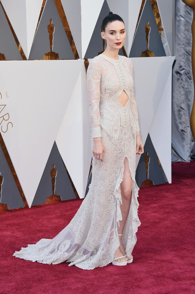 WHO:Rooney Mara WHAT: Nominee, Actress in a Supporting Role for Carol WEAR:Givenchy gown.