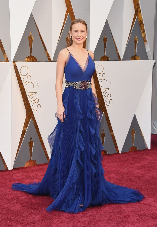 WHO: Brie Larson WHAT: Nominee, Actress in a Leading Role for Room WEAR: Gucci dress.