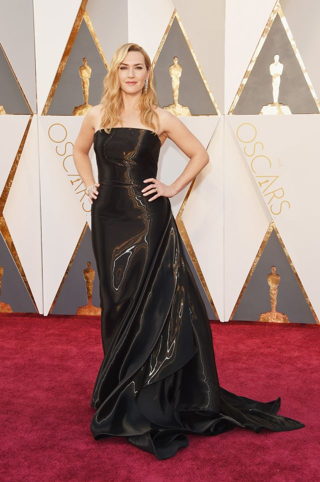 WHO:Kate Winslet WHAT: Nominee, Actress in a Supporting Role for Steve Jobs WEAR: Ralph Lauren gown; Nirav Modi jewellery.