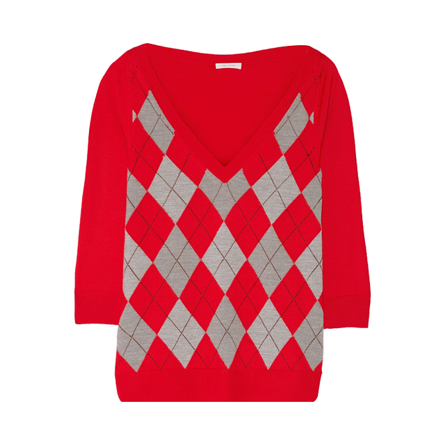 Marc Jacobs Argyle Wool Sweater