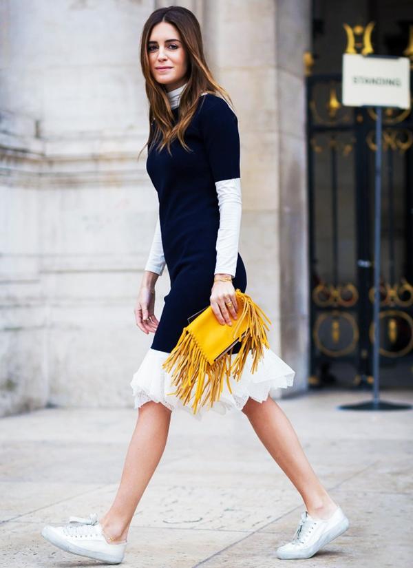 Who: Gala Gonzalez ofAmlul When/Where: Paris Fashion Week, F/W 15