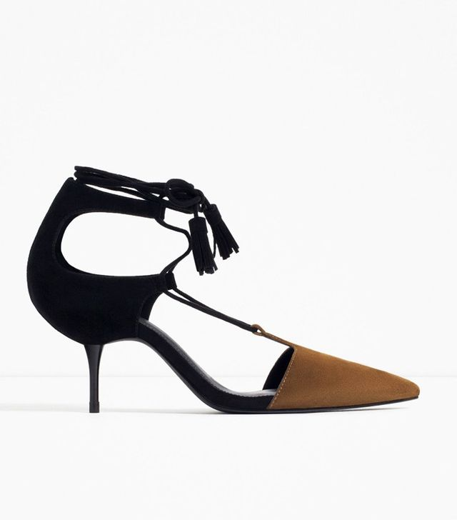 Zara Mid Heel Lace-up Shoes