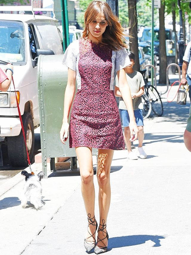 Alexa Chung inBionda Castana Nicole Lace Pumps(£495) and a Carven dress. WWW UK: You've had so many amazing celebrities wear Bionda Castana shoes over the past few years, but...