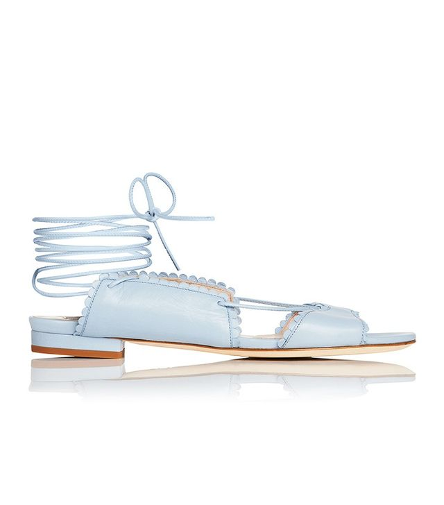 L.K.Bennett x Bionda CastanaJackie shoe in Cornflower Blue (£275).