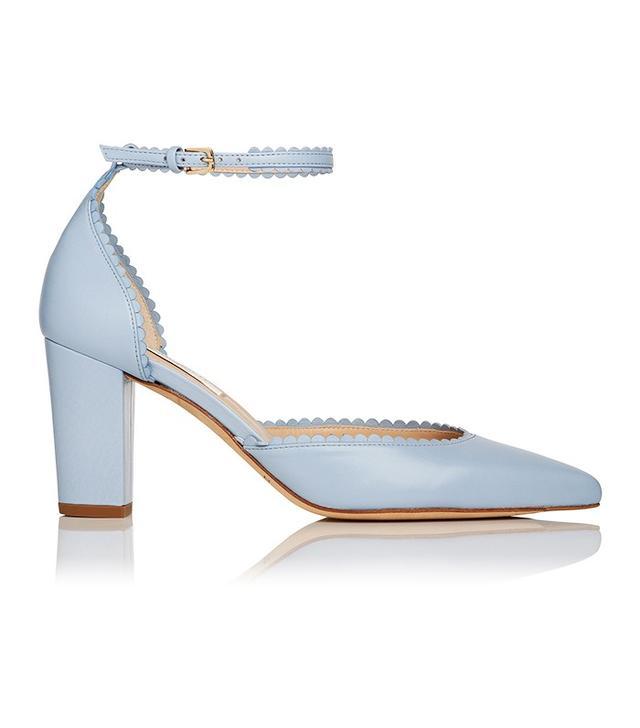 L.K.Bennett x Bionda CastanaAlexa shoe in Cornflower Blue (£275).