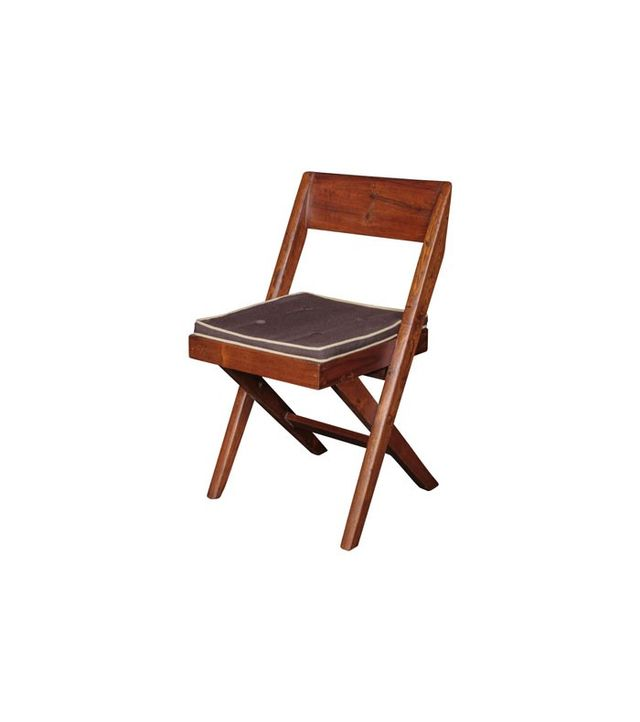 Pierre Jeanneret Teak and Cane Library Chair