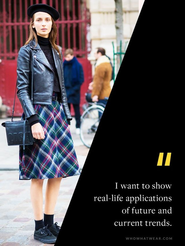 """""""I'm shooting to inspire my readers. Street style forms a bridge between the runway looks and what's available in the stores. I want to show real-life applications of future and..."""