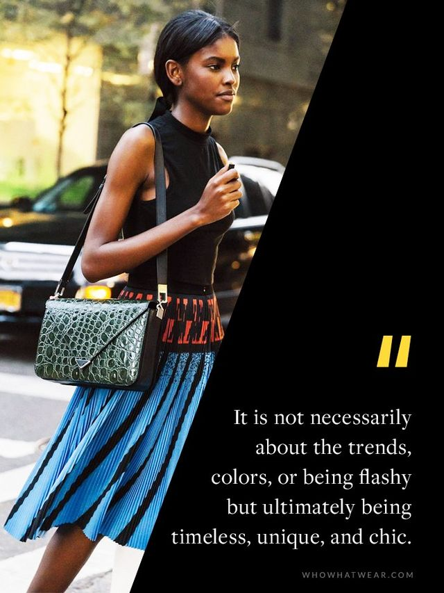 """""""I look at the silhouette of an outfit and the different textures one is wearing. It's important that someone is confident in what they are wearing. It is not necessarily about the..."""
