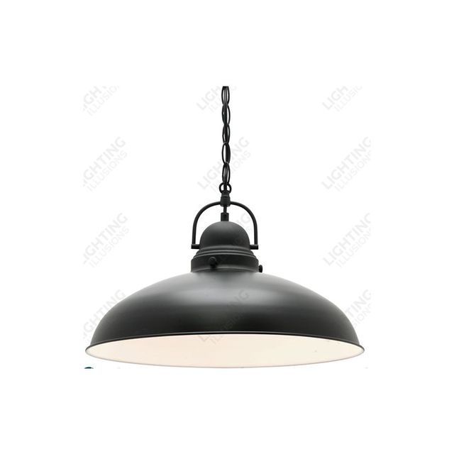 Lighting Illusions 1 Light Verona Matte Black Metal Pendant Light