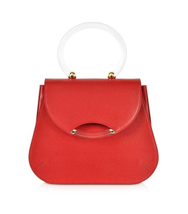 Charlotte Olympia Newman Red Leather Satchel