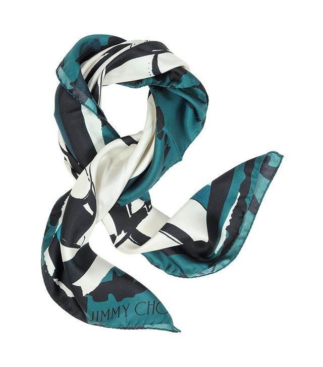 Jimmy Choo Shoes Printed Silk Square Scarf