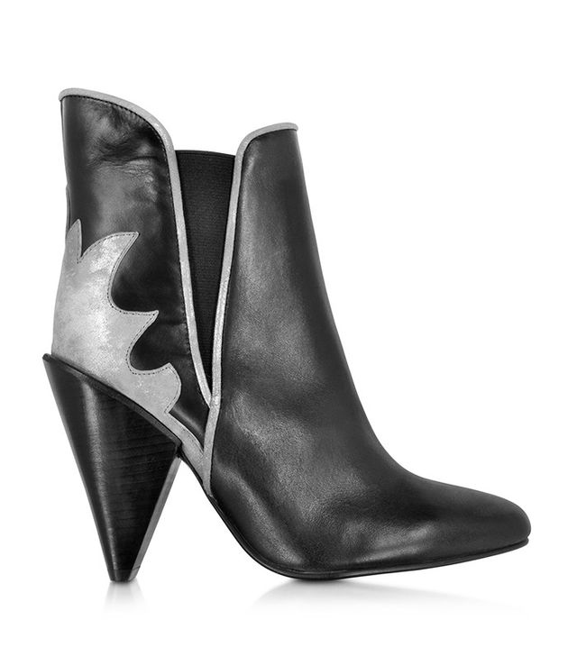 See by Chloé Black Leather and Suede Ankle Boot