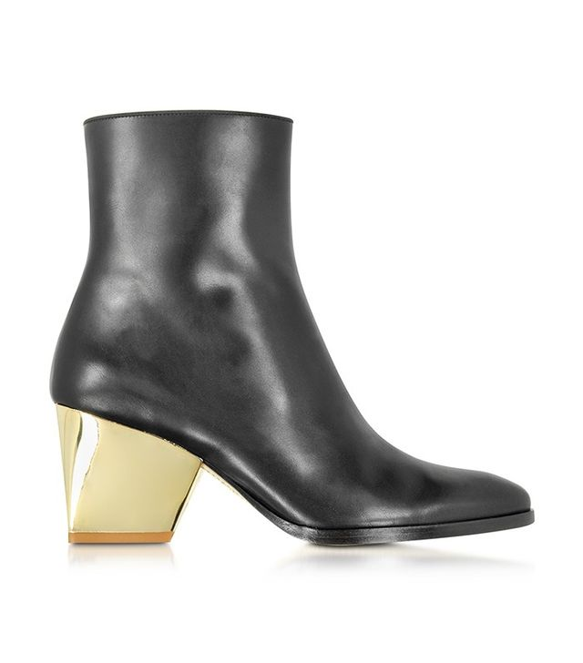 Zoe Lee Addis Black Leather Bootie