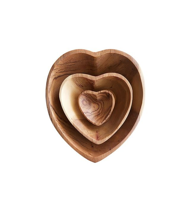 Wood Carvers of Kenya Heart Bowls, Assorted Sizes