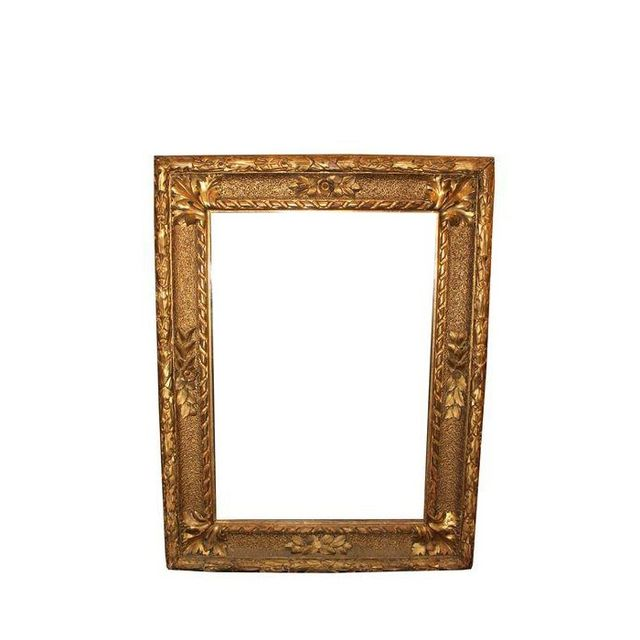 Chairish Vintage Gold Gilded Mirror 1275