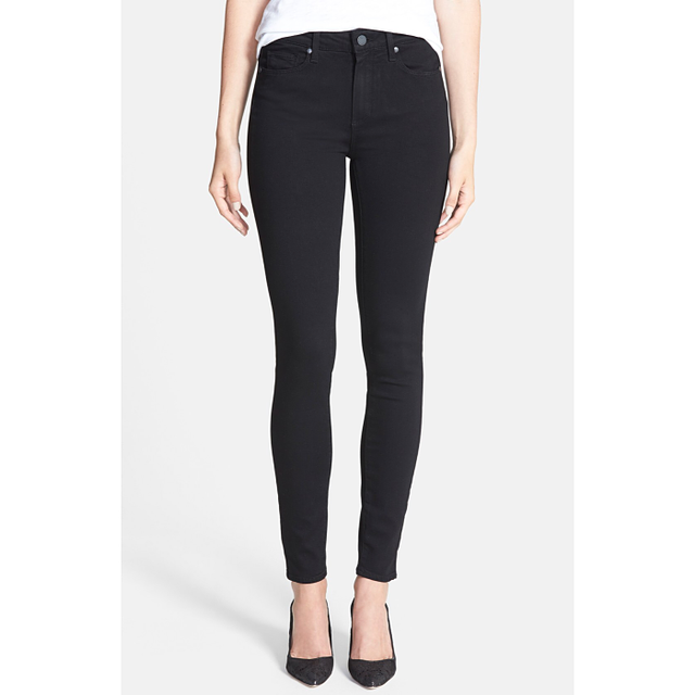 Paige Denim Transcend Hoxton in Black Shadow