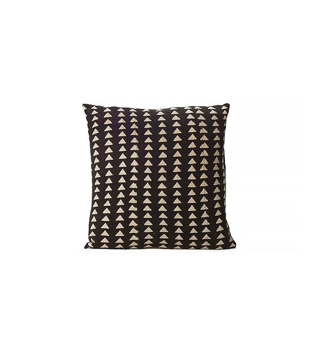 Consort Black Triangle Print Mudcloth Pillow