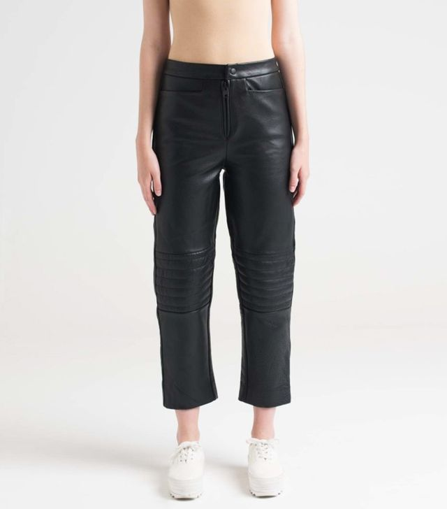 Charlie May Leather Moto Pants