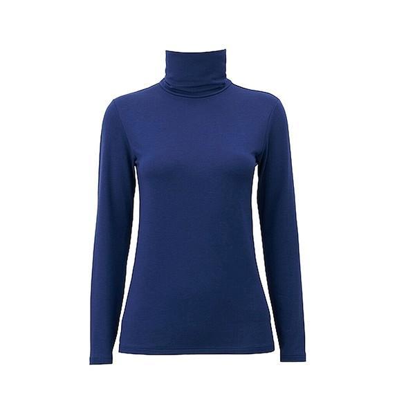 Uniqlo Heattech Polo Neck Long Sleeve T-Shirt