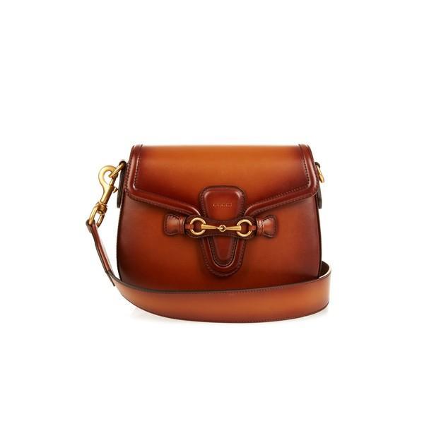 Gucci Lady Web Medium Leather Shoulder Bag