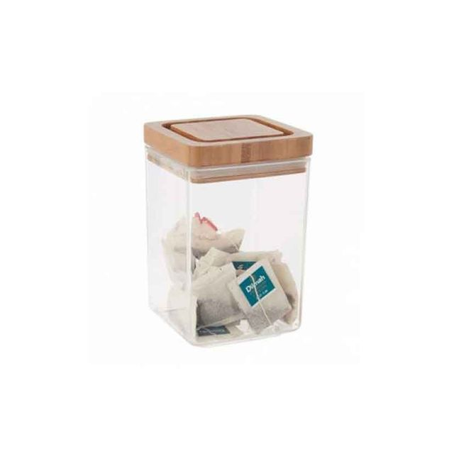 Howards Storage World 1.4 Litre Canister with Bamboo Lid